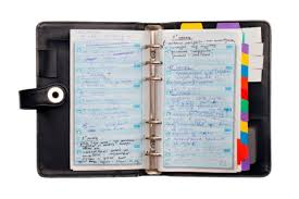 Old school agenda.  Remember those????