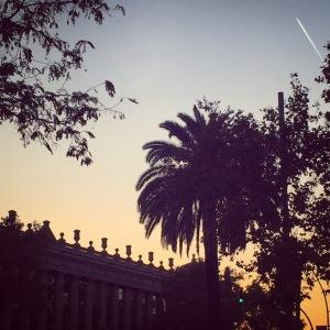 La Fira Barcelona-sundown
